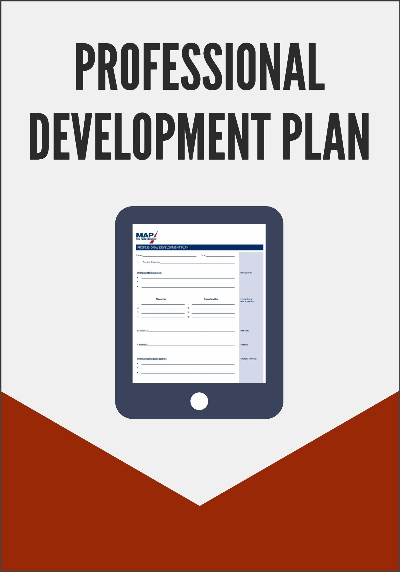 Professional Development Plan Template